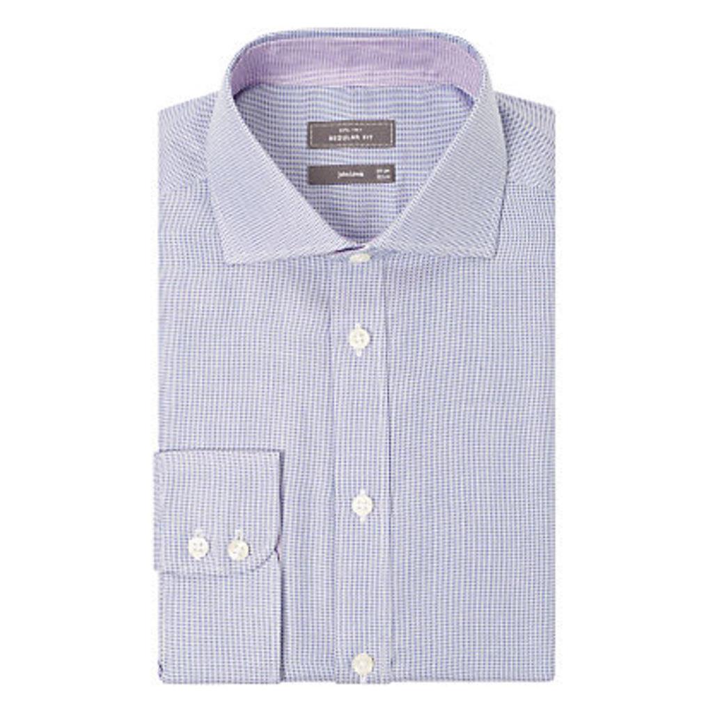 John Lewis Non Iron Semi Plain Regular Fit Shirt