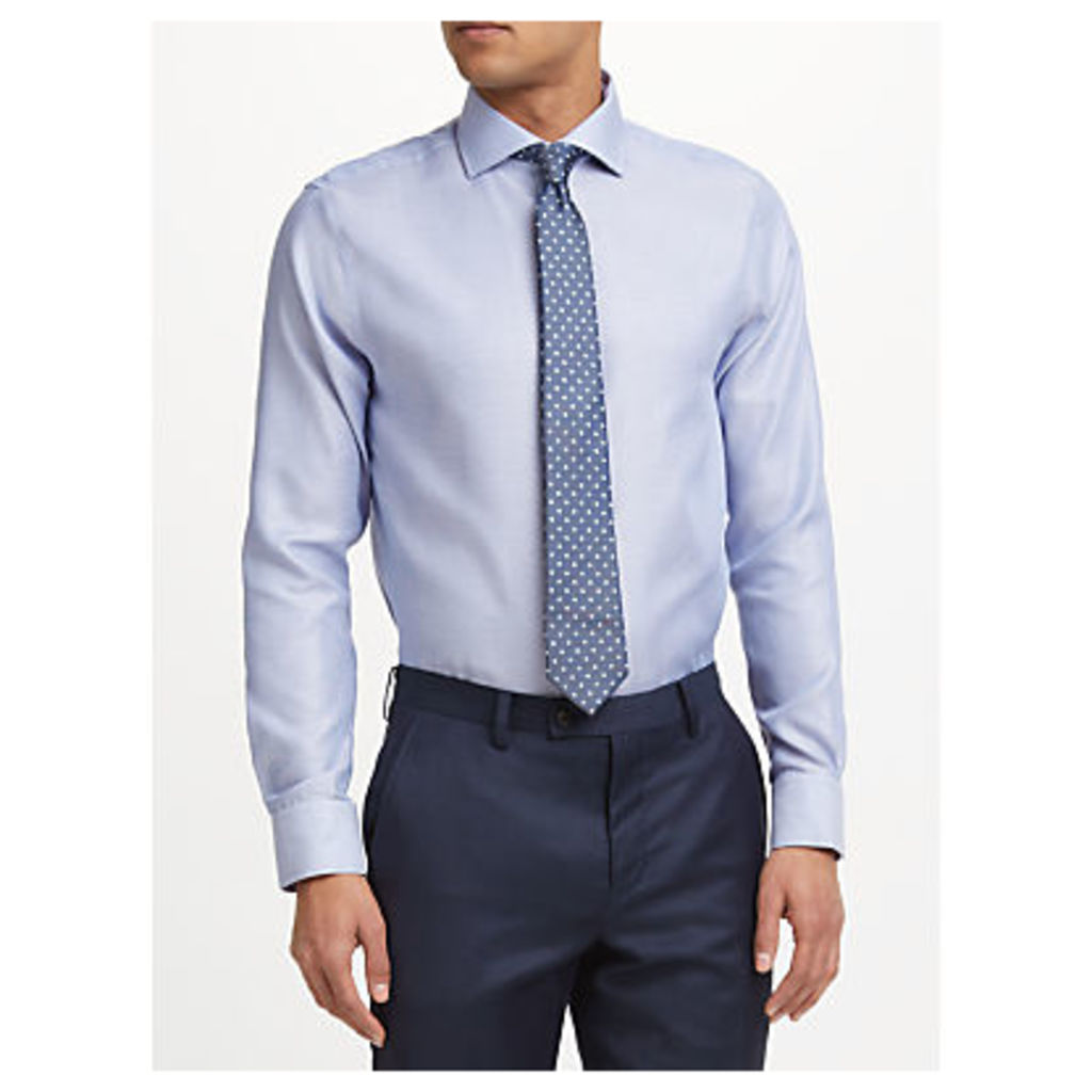 John Lewis Non Iron Semi Plain Tailored Fit Shirt