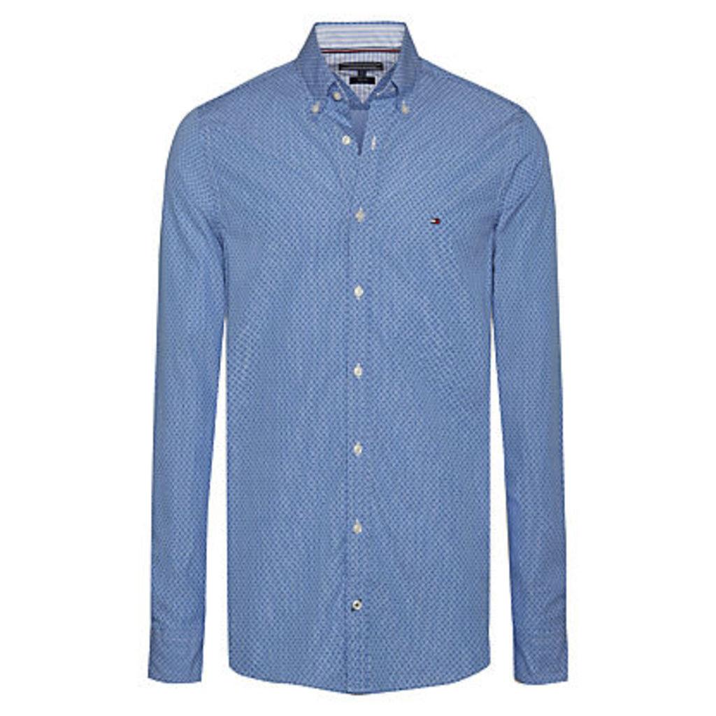 Tommy Hilfiger Dot Print Long Sleeve Shirt, Blue