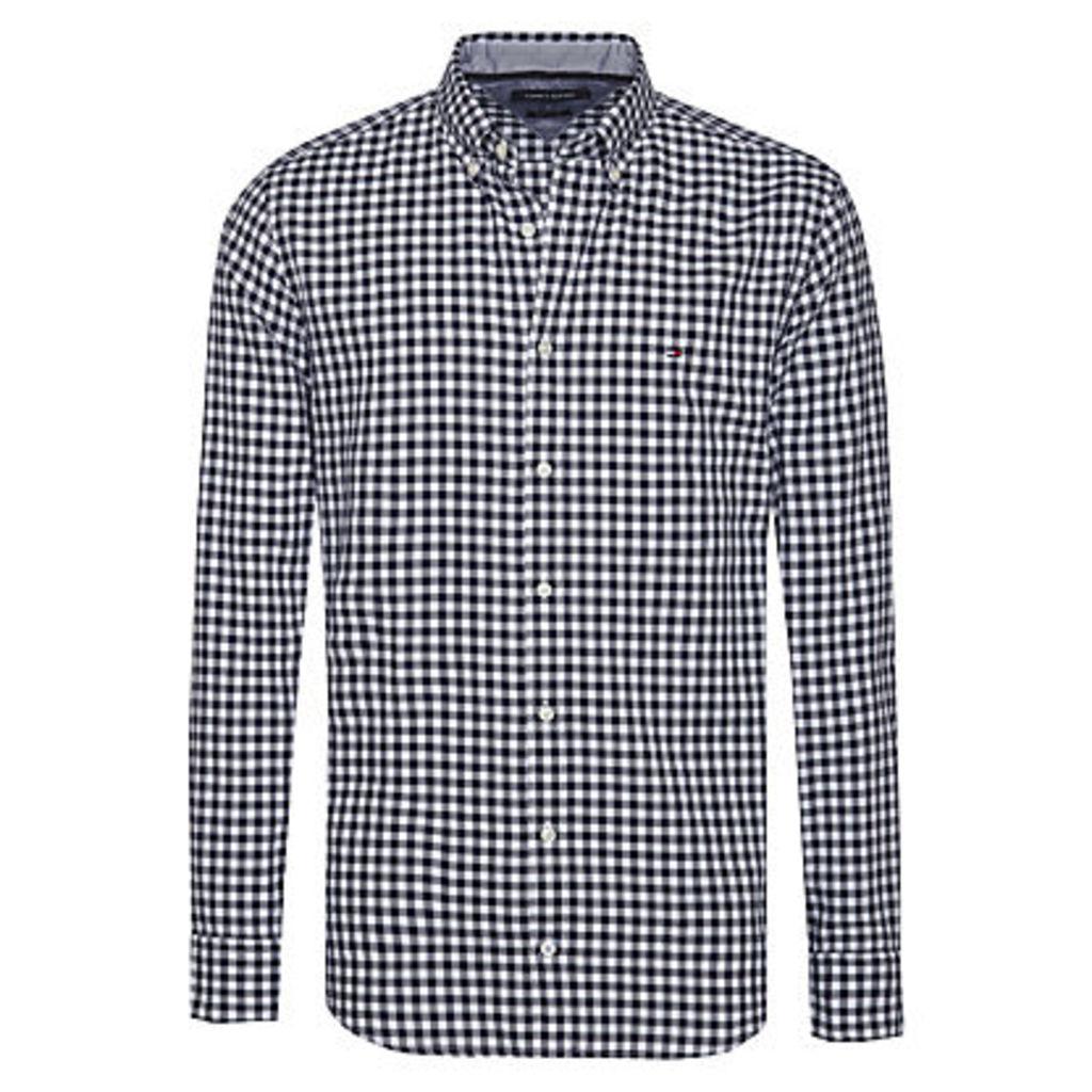 Tommy Hilfiger Gingham Long Sleeve Shirt, Black/White