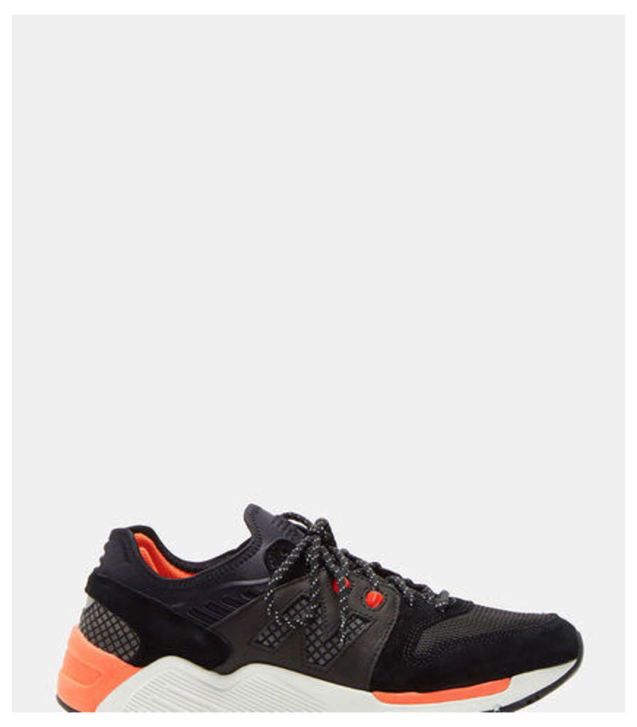 009 Mesh Leather Sneakers