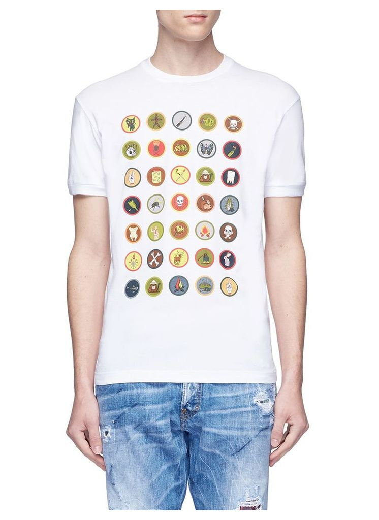 Boy scouts badge print T-shirt