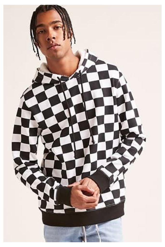 Checkered Print Hoodie