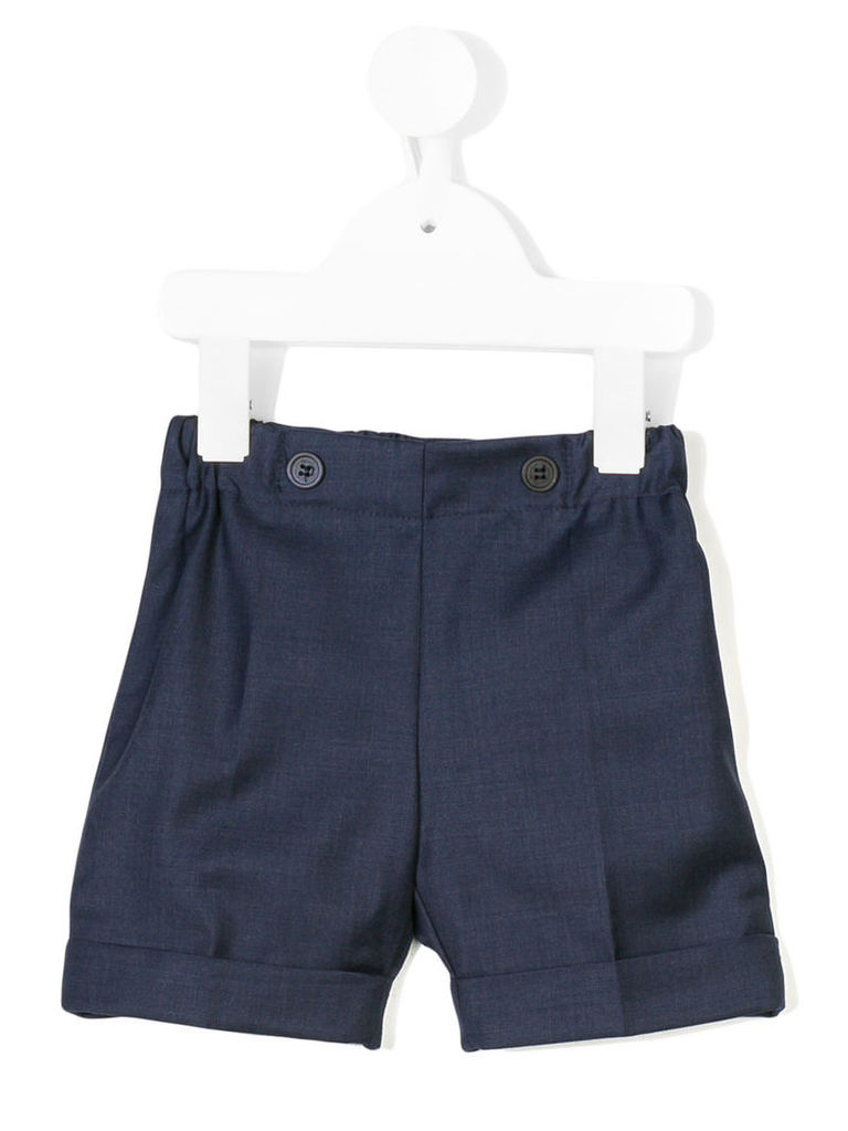 La Stupenderia - smart shorts - kids - Cotton/Virgin Wool - 18 mth, Blue