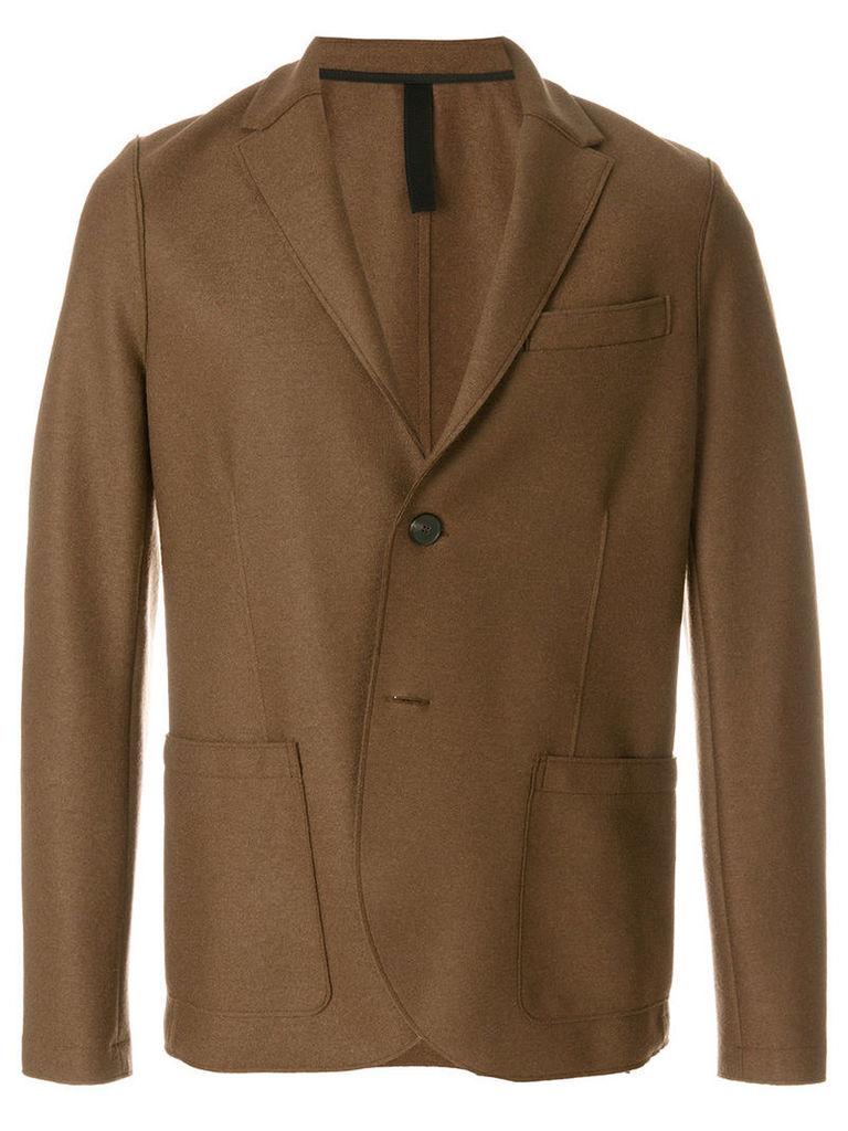 Harris Wharf London - classic fitted blazer - men - Virgin Wool - 52, Brown