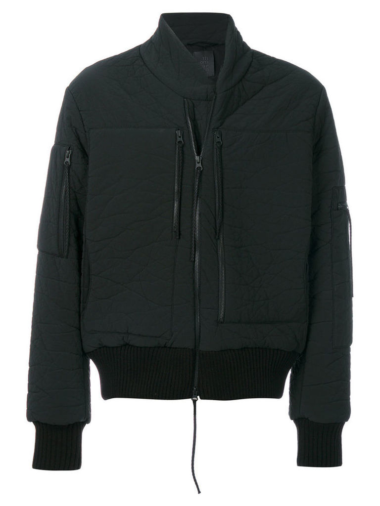 Thom Krom - crinkled bomber jacket - men - Cotton/Polyester/Polyurethane/Viscose - XL, Black