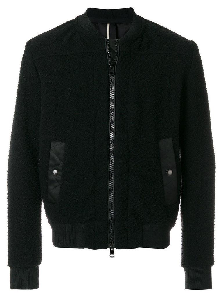 Low Brand - zipped bomber jacket - men - Polyamide/Polyester/Acetate/other fibers - 4, Black
