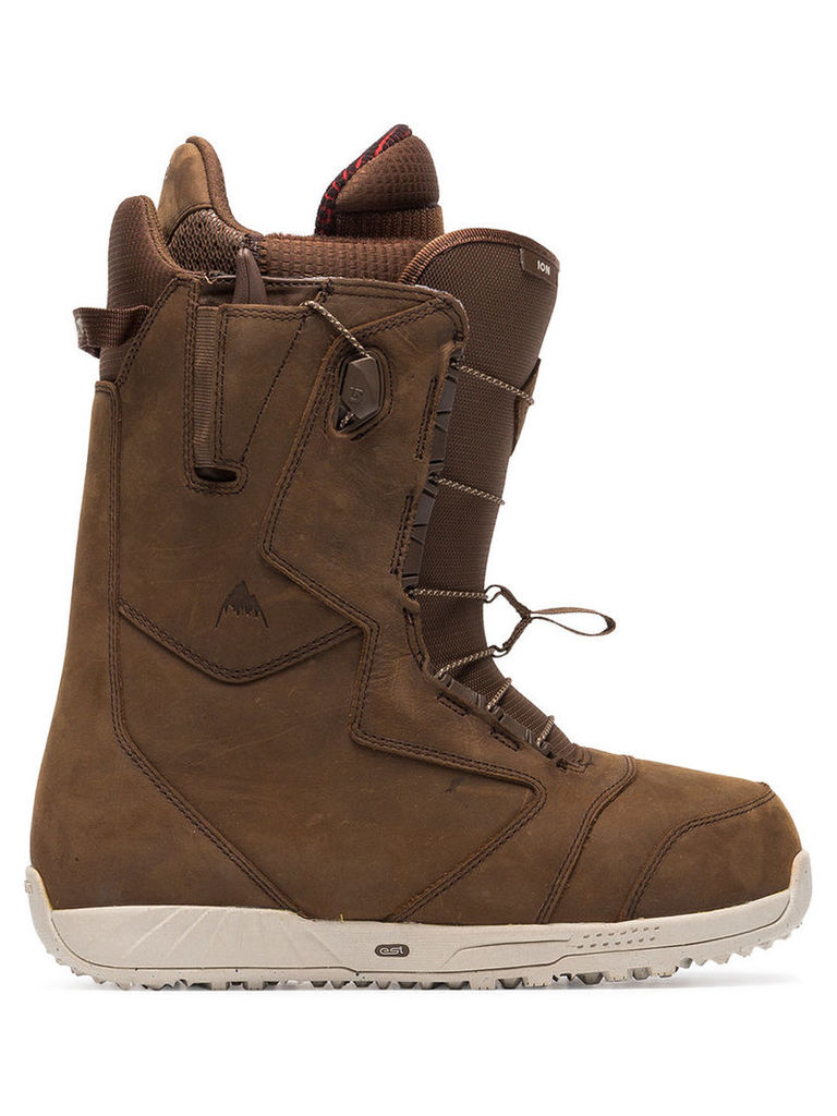 Burton Ak - Red Wing® Ion snowboarding boots - men - Cotton/Calf Leather/rubber - 10, Brown