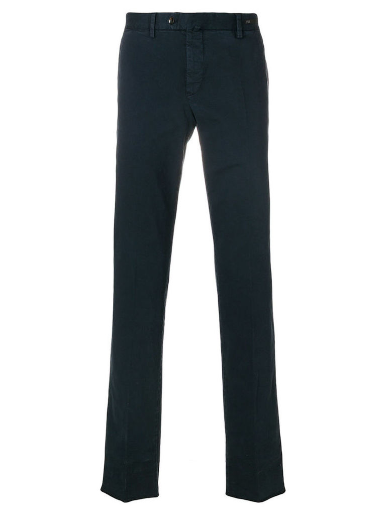 Pt01 - skinny chino trousers - men - Cotton/Spandex/Elastane - 50, Blue