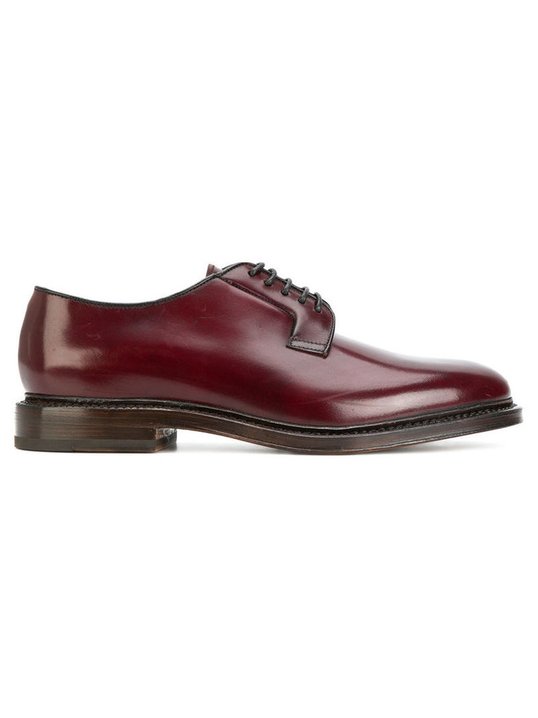 Doucal's - lace-up derby shoes - men - Horse Leather/Leather/Suede - 40, Red