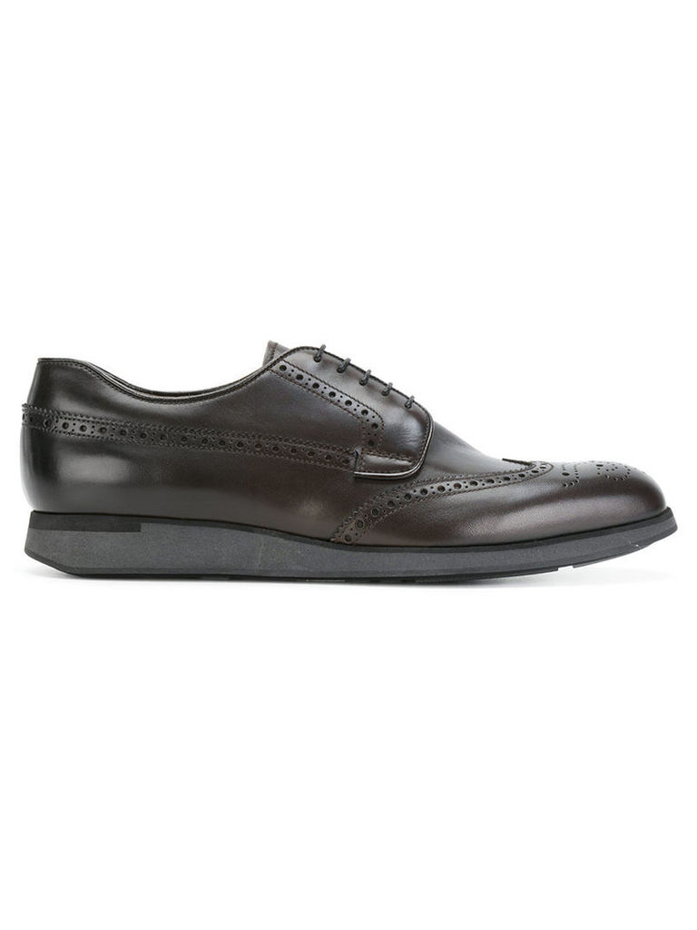 Church's - wedge sole Derby shoes - men - Leather/rubber - 10, Brown