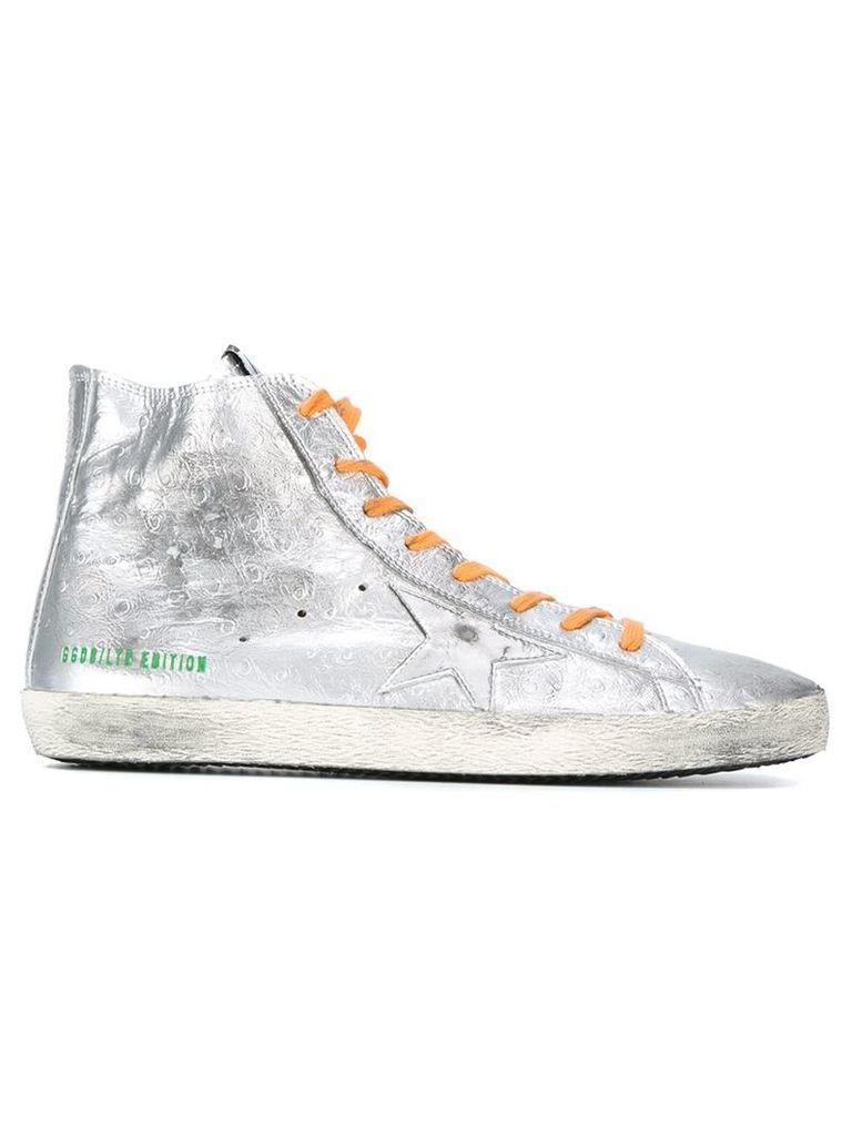 Golden Goose Deluxe Brand - 'Francy' hi-top sneakers - men - Leather/rubber/Cotton - 39, Grey