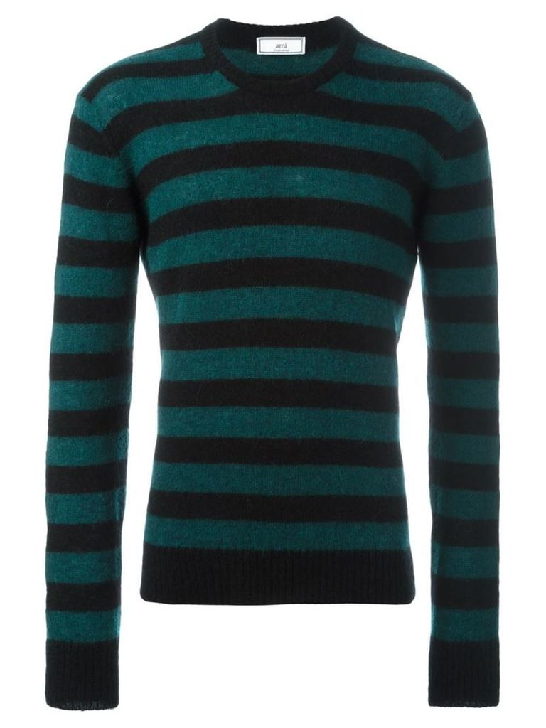 Ami Alexandre Mattiussi - crew neck sweater - men - Polyamide/Llama/Wool/Alpaca - L, Black