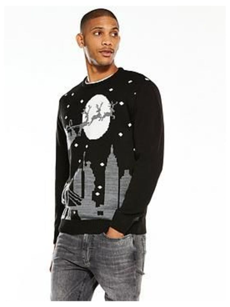 V By Very City Scene Christmas Jumper