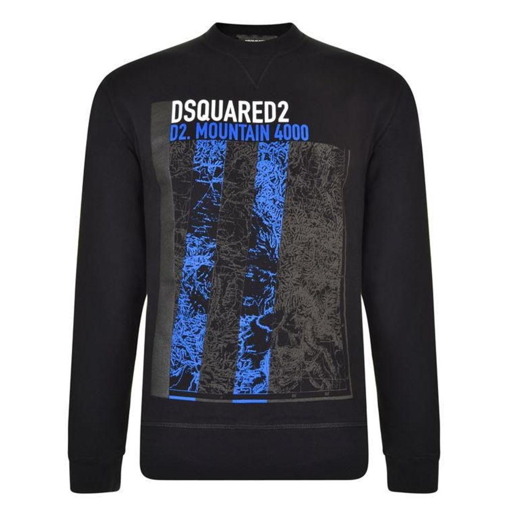 DSQUARED2 Printed Crew Neck Sweatshirt