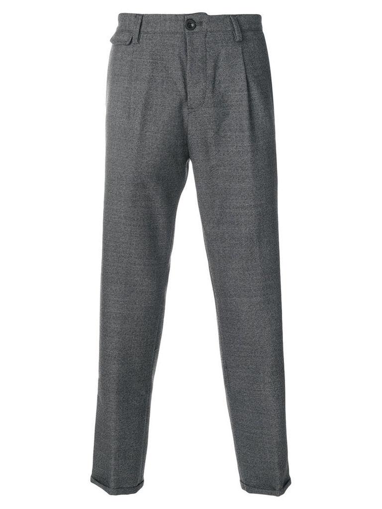 Pt01 - slim fit trousers - men - Virgin Wool - 34, Grey