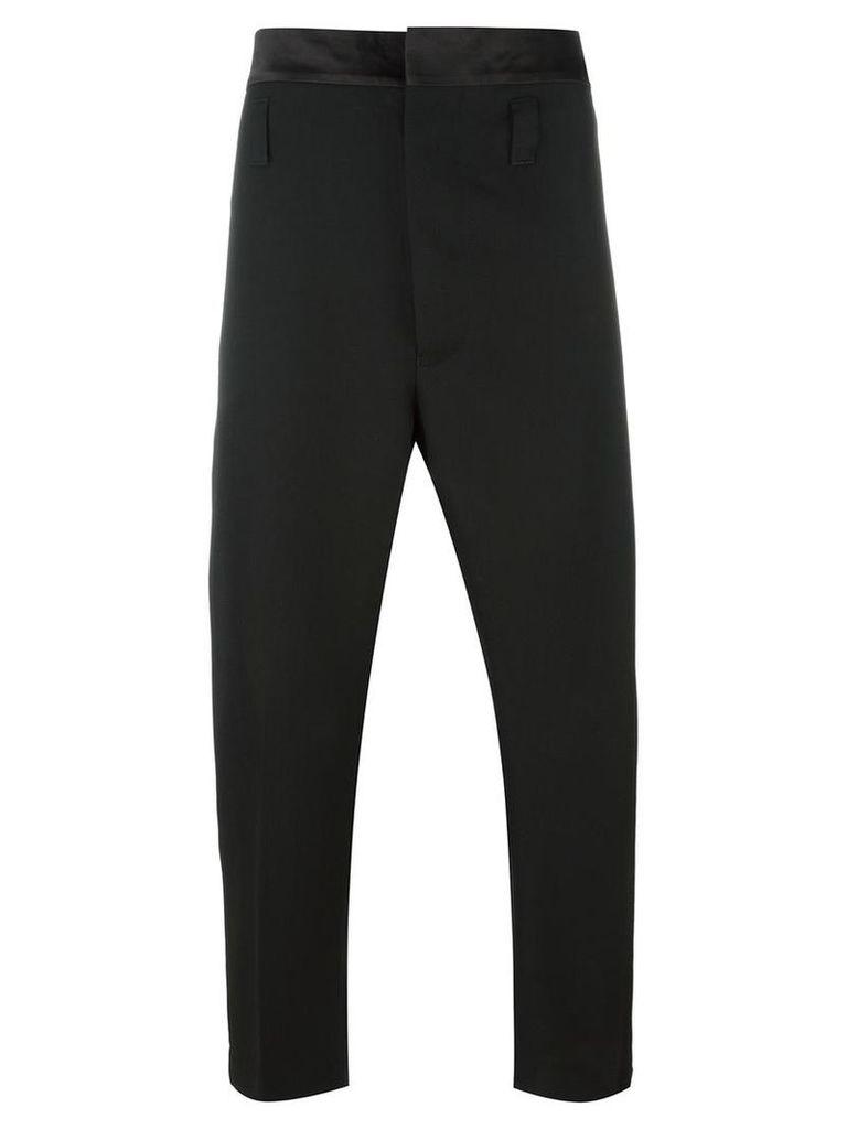 Haider Ackermann - cropped trousers - men - Virgin Wool/Silk/Cotton/Rayon - 46, Black