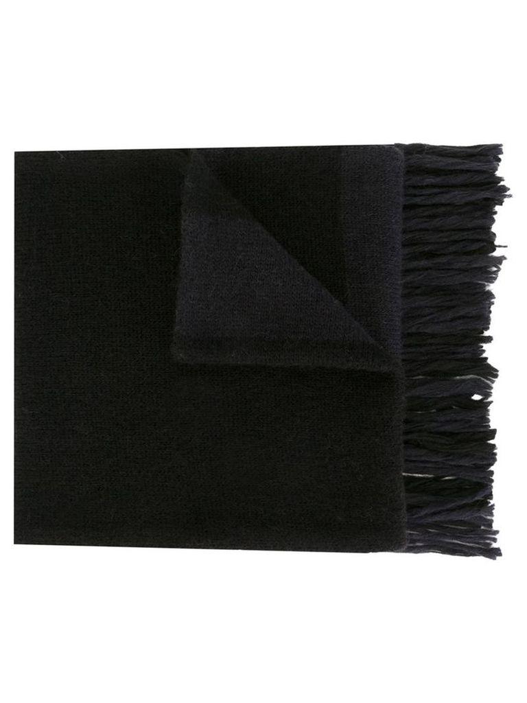 Ami Alexandre Mattiussi - fringed striped scarf - men - Nylon/Wool/Alpaca - One Size, Black