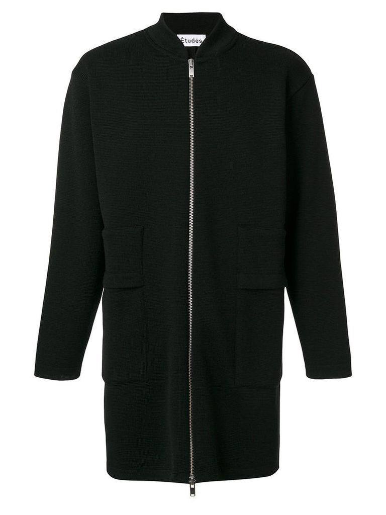 Études - Rashad Cola zipped coat - men - Virgin Wool - S, Black