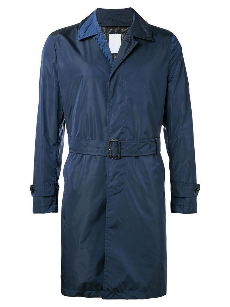 Estnation - single breasted coat - men - Nylon - XL, Blue