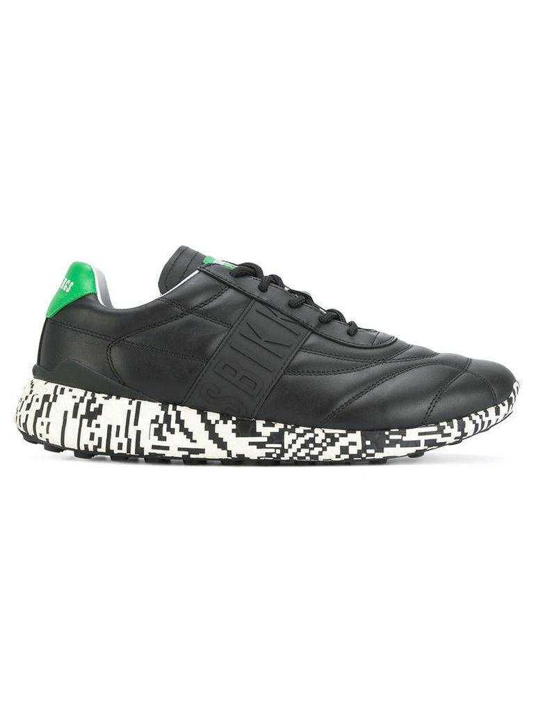 Dirk Bikkembergs - low top sneakers - men - Leather/rubber/Cotton - 40, Black
