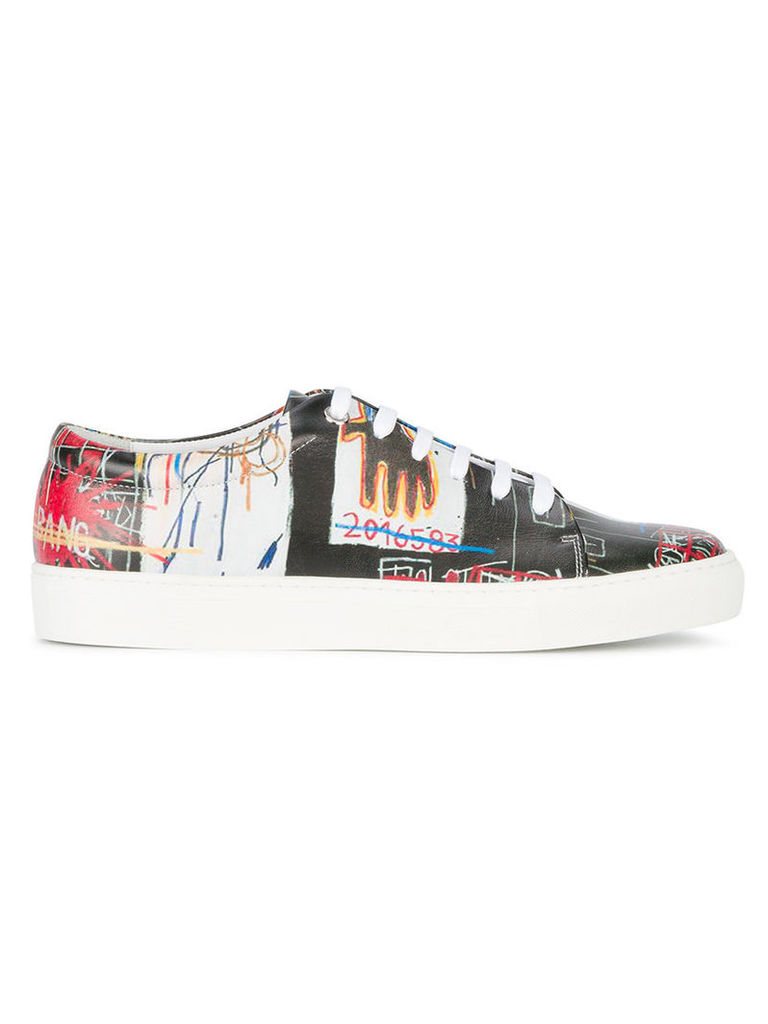 Jean-Michel Basquiat X Browns Browns - Rome Pays Off black low top graffiti sneakers - men - rubber/Leather/Patent Leather - 44
