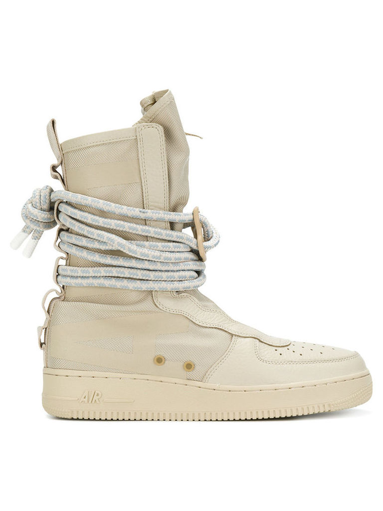 Nike - SF Air Force 1 Hi boots - men - Leather/Polyester/rubber - 7.5, Nude/Neutrals