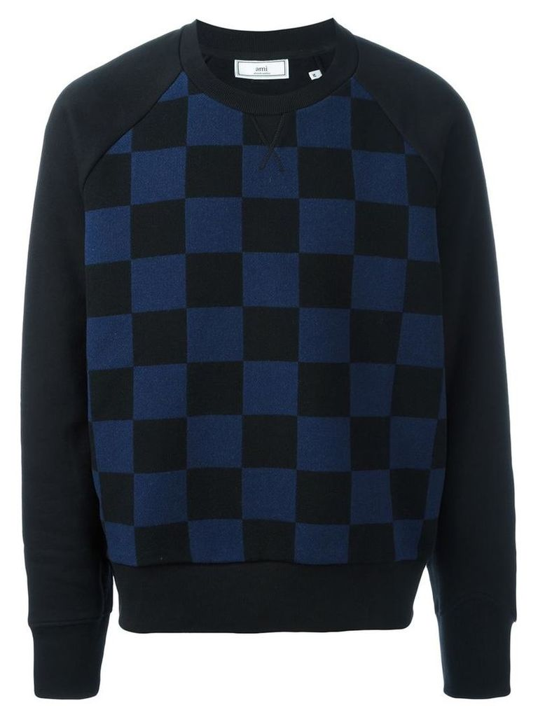 Ami Alexandre Mattiussi - oversized crew neck sweatshirt - men - Cotton/Wool - M, Black