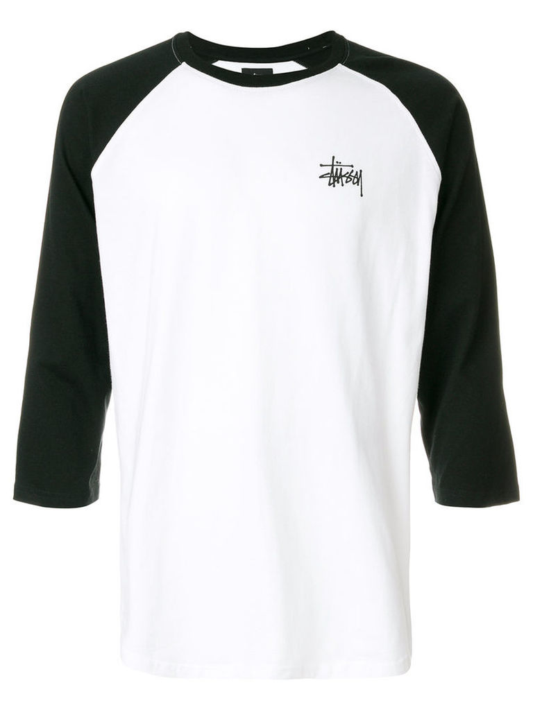 Stussy - contrast sleeve top - men - Cotton - L, White