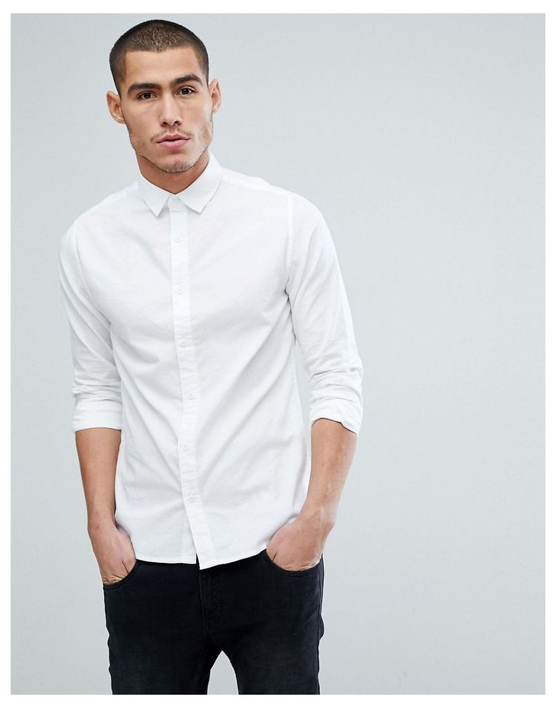 Only & Sons Oxford Shirt In Regular Fit - White