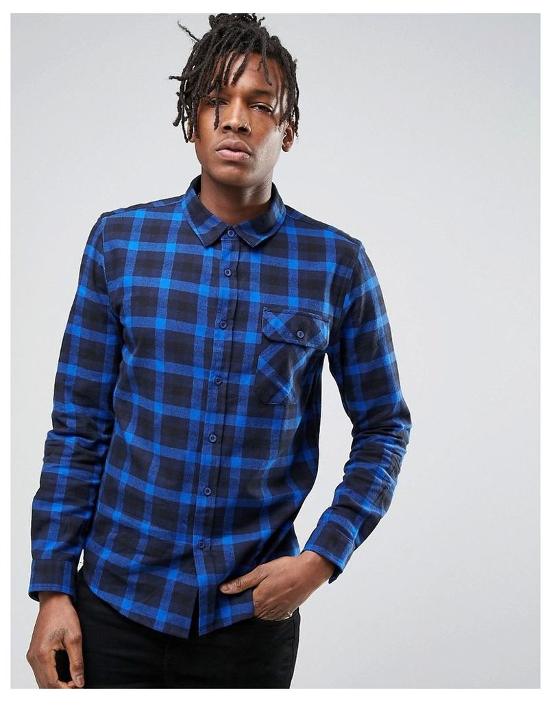 Another Influence Blue Check Shirt - Blue