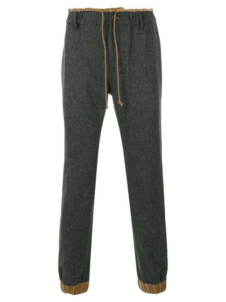 Sacai - paper bag waist trousers - men - Wool/Rayon - 3, Grey