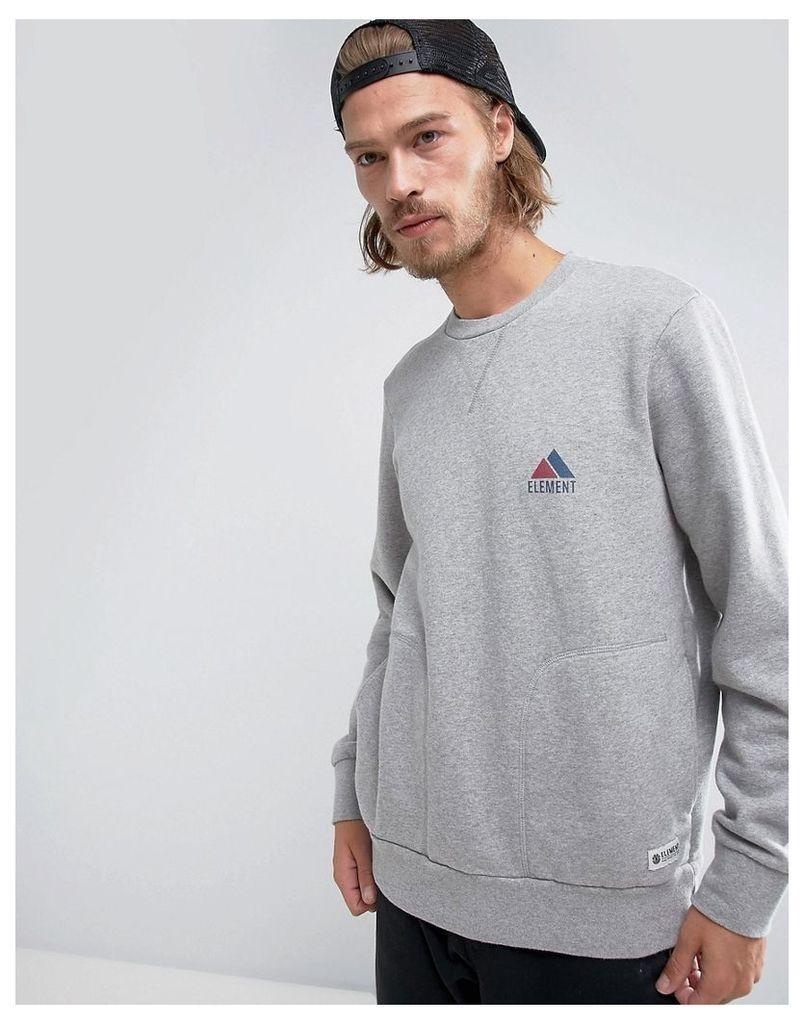 Element Logo Crew Neck Sweatshirt - 9 grey heather