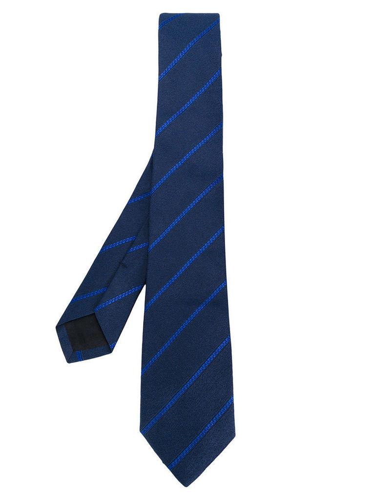 Versace - classic striped tie - men - Silk/Cupro - One Size, Blue
