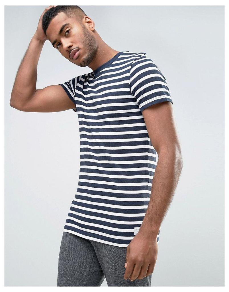 Jack & Jones Core T-Shirt in Stripe - Sky captain