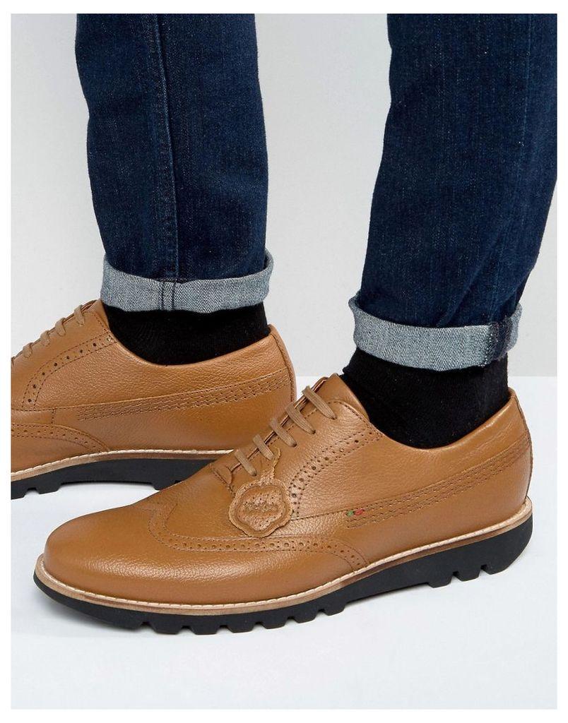 Kickers Kymbo Leather Oxford Brogue Shoes - Tan