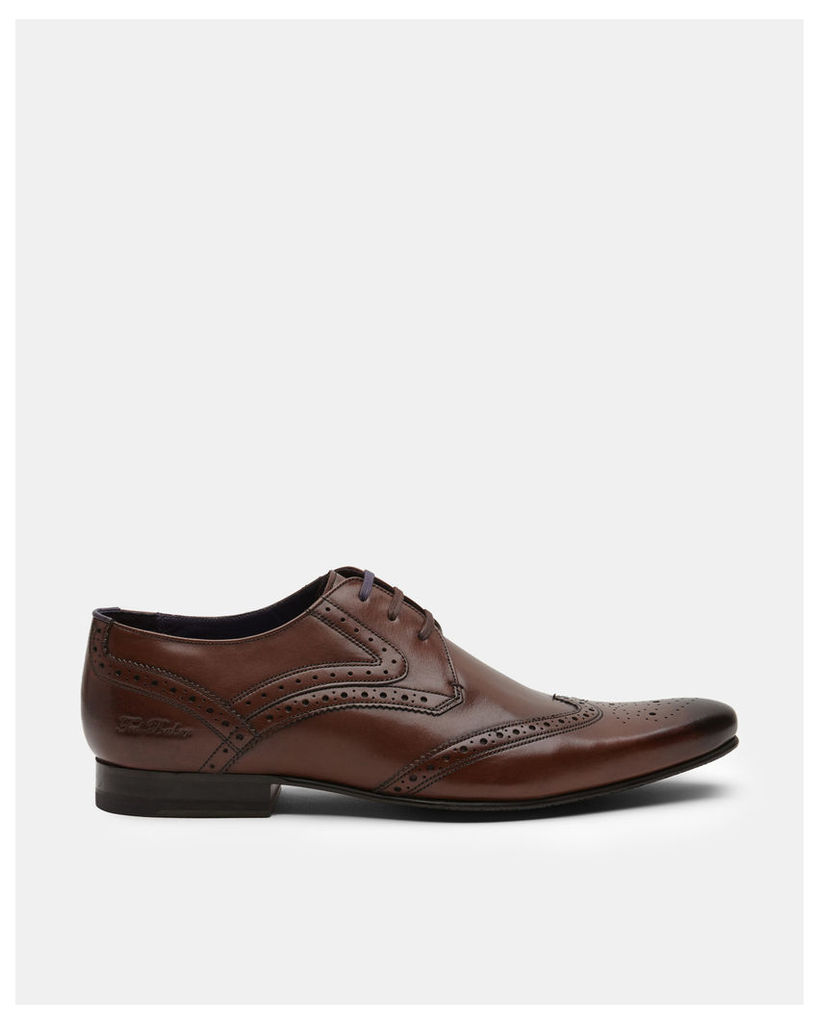 Ted Baker Leather derby brogue Brown