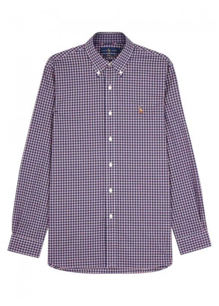 Polo Ralph Lauren Checked Slim Cotton Shirt - Size L