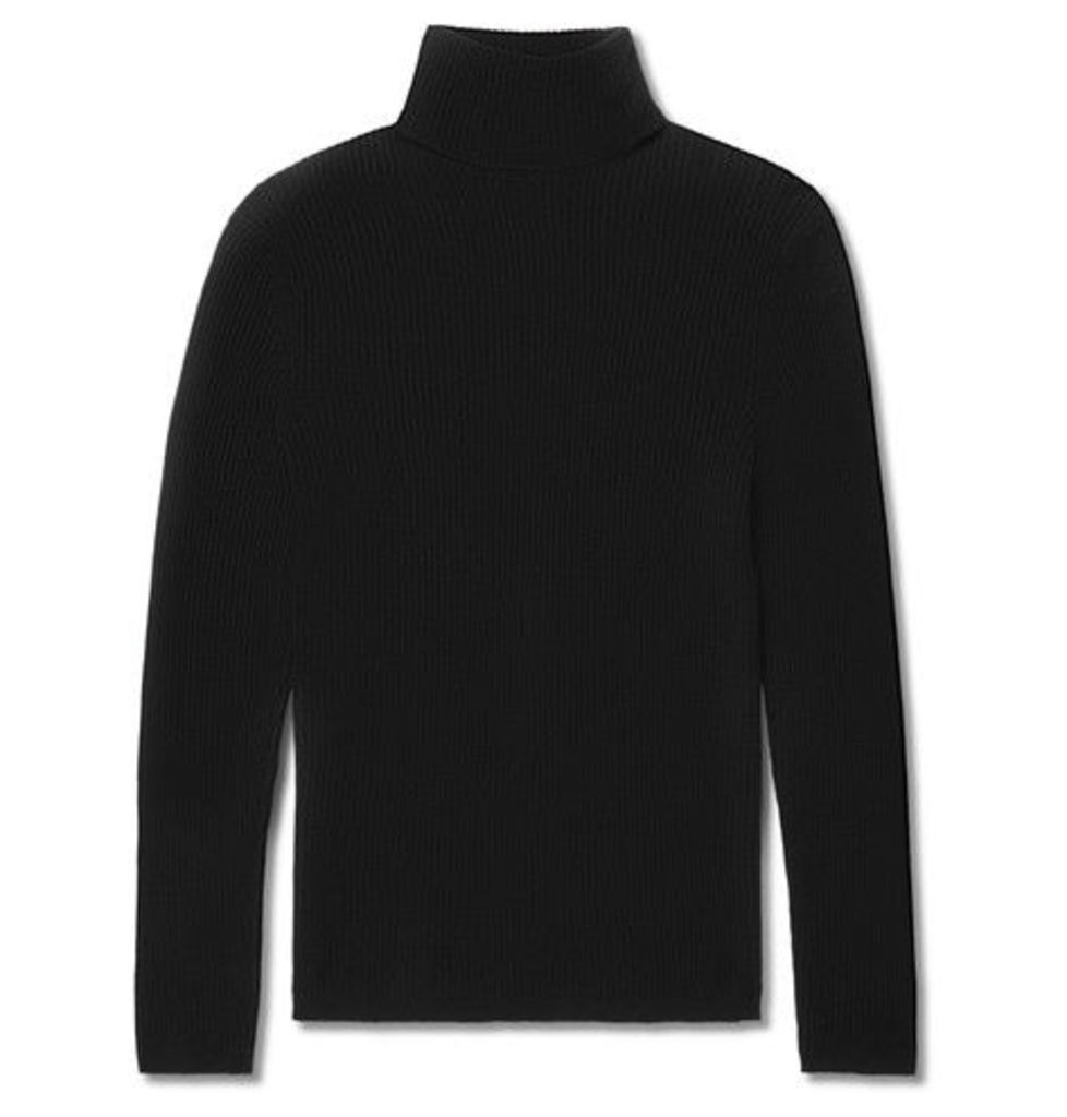 Slim-fit Ribbed Cashmere Rollneck Sweater