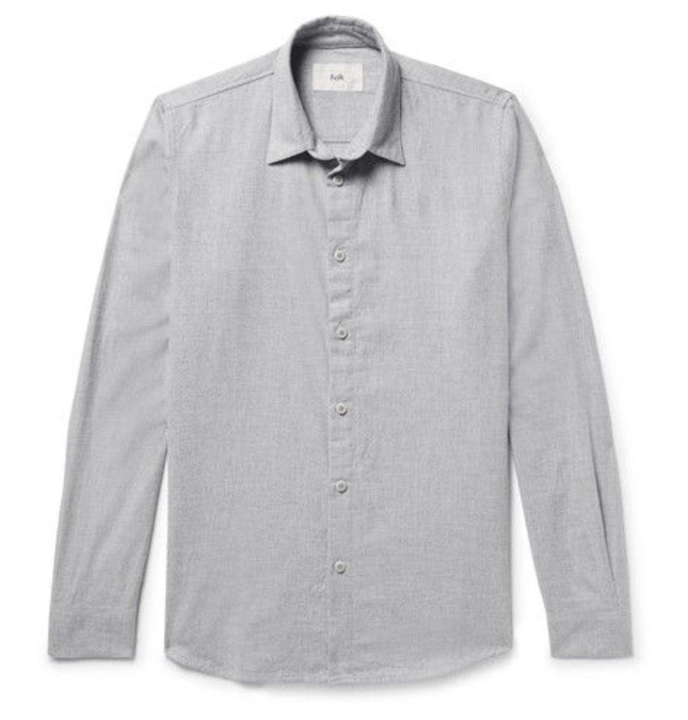 Storm Slim-fit Cotton-flannel Shirt
