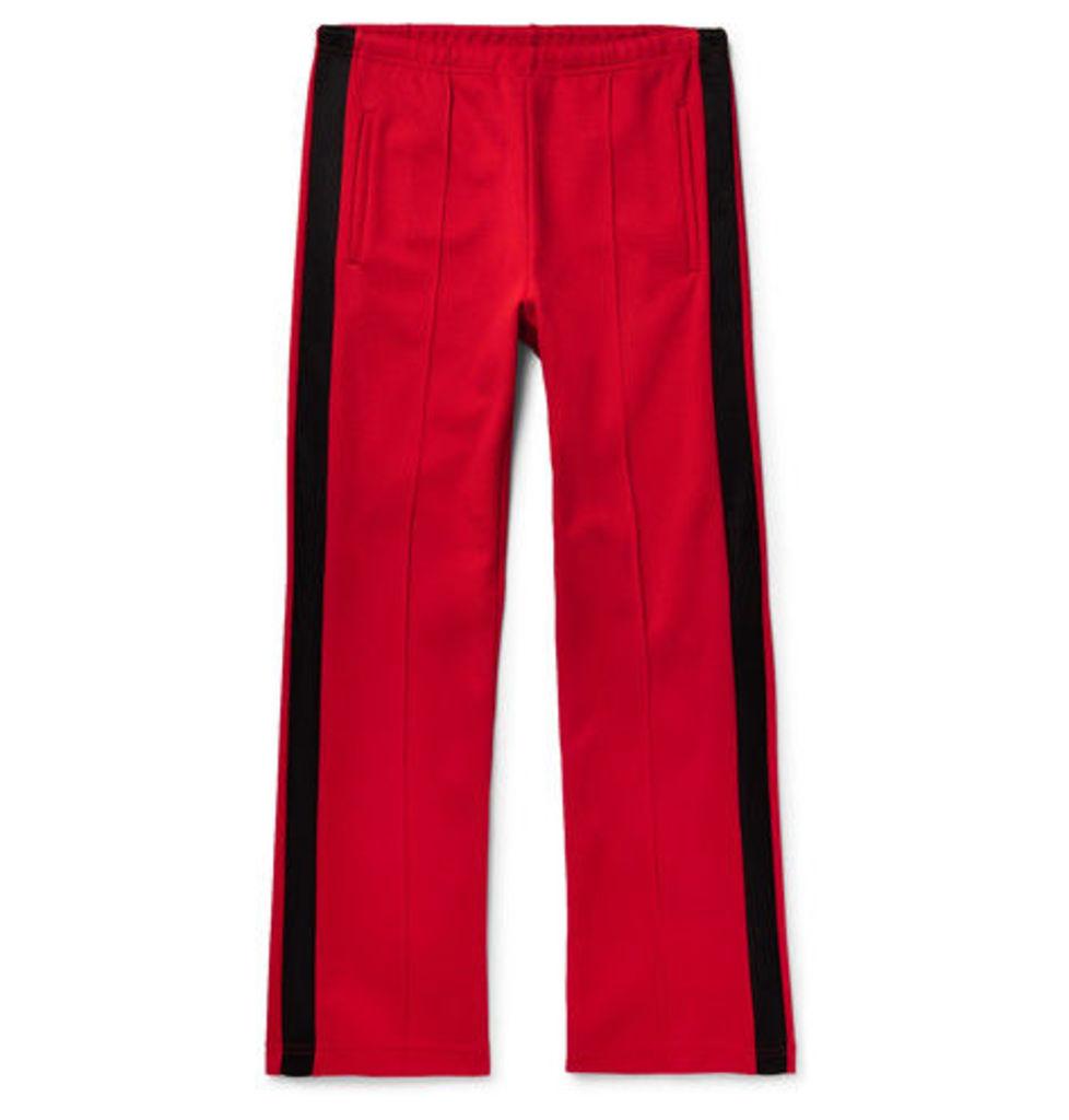 Satin-trimmed Piqué Drawstring Trousers