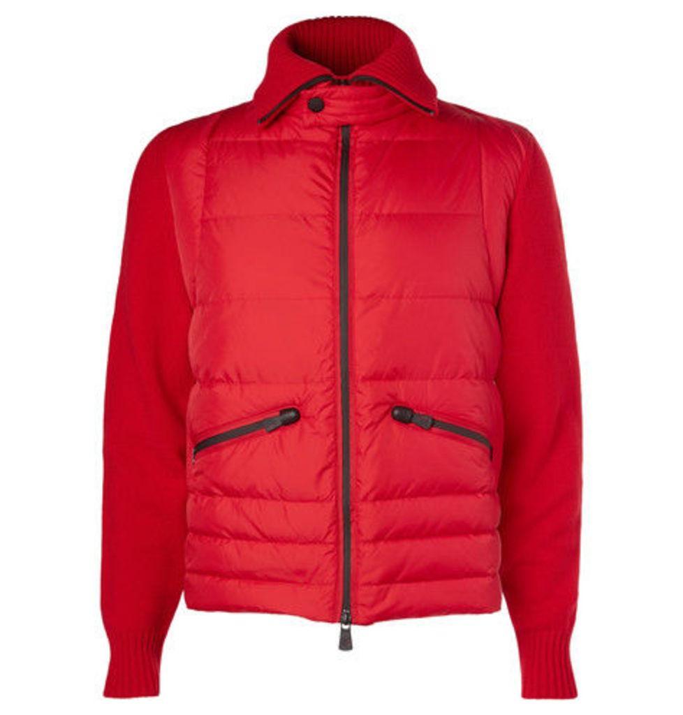 Panelled Wool-blend Down Jacket