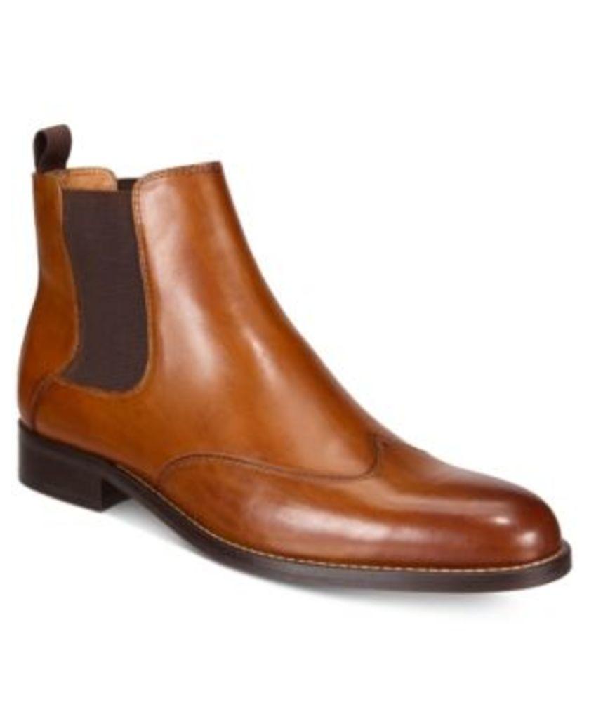 Tasso Elba Men's Renato Wingtip Chelsea Boots, Created for Macy's Men's Shoes