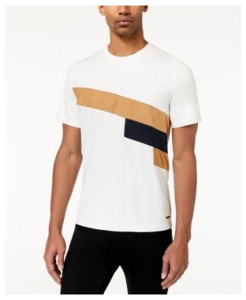 Sean John Men's Suede Pieced T-Shirt