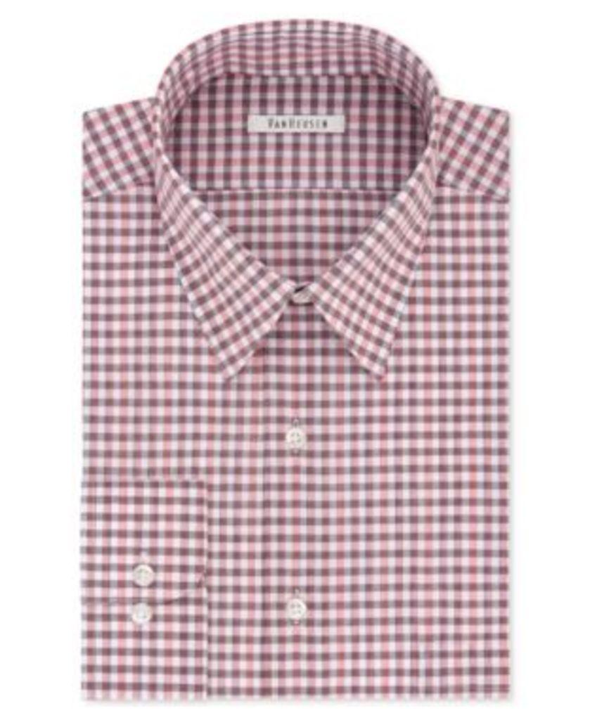 Van Heusen Men's Classic/Regular Fit Check Dress Shirt