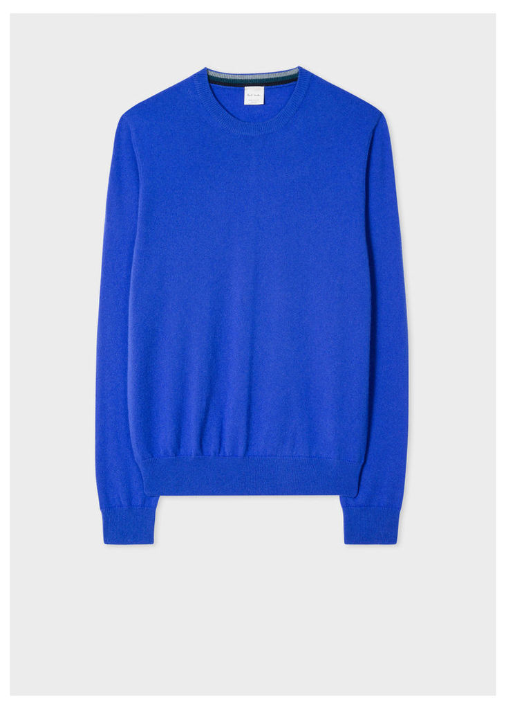 Men's Cobalt Blue Cashmere Sweater