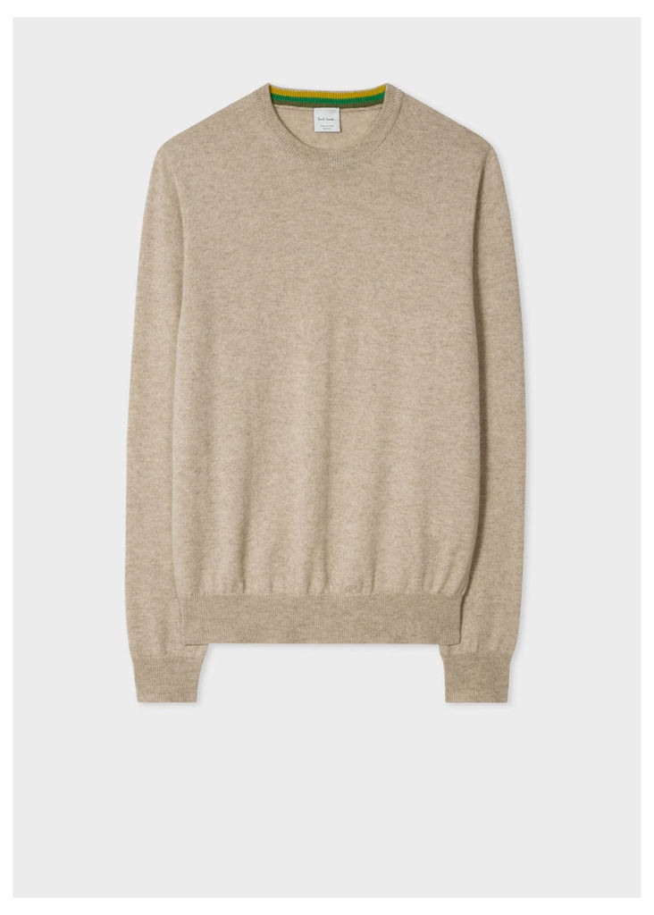 Men's Oatmeal Cashmere Sweater