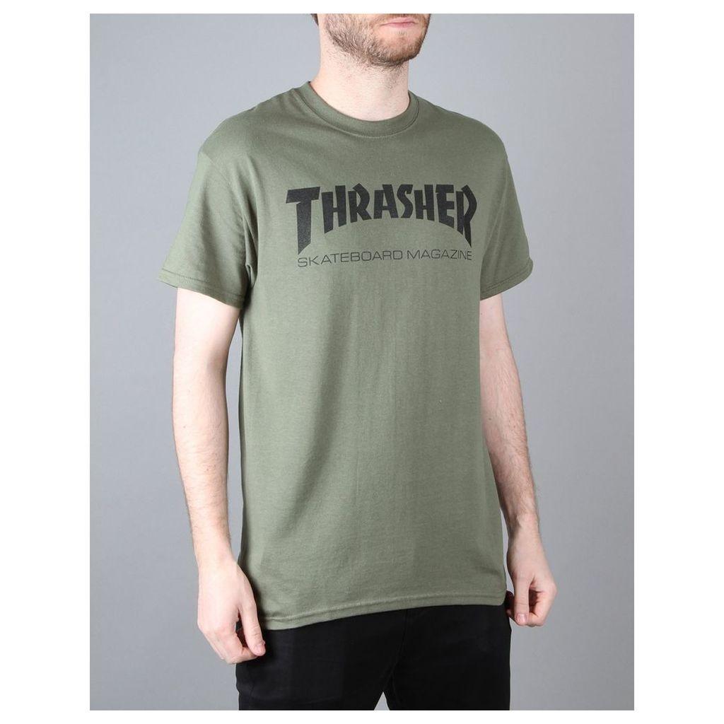 Thrasher Skate Mag T-Shirt - Army Green (S)