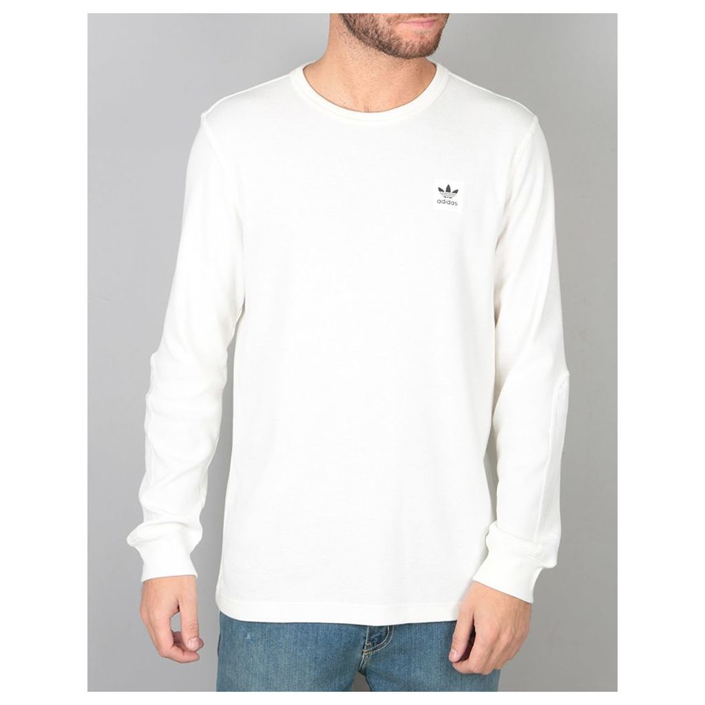 Adidas Thermal L/S T-Shirt - Off White (M)