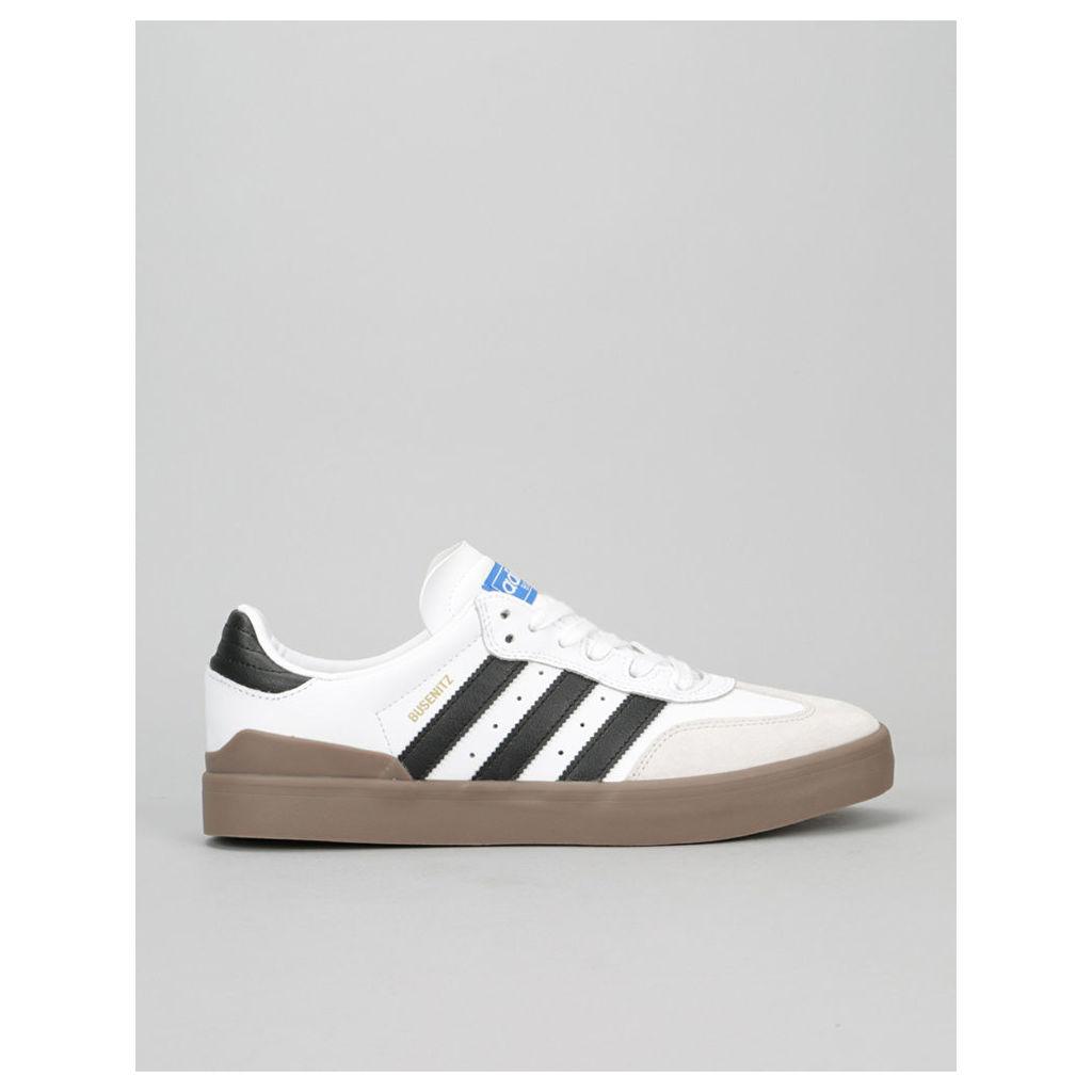 Adidas Busenitz Vulc Samba Skate Shoes - White/Core Black/Bluebird (UK 7)
